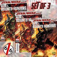 🚨 STAR WARS WAR OF THE BOUNTY HUNTERS ALPHA #1 Set Of 3 Main & Crimson & 1:50