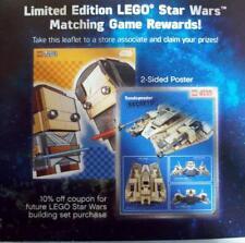 LEGO STAR WARS target poster SANDSPEEDER 75204 BRICK HEADZ 41489 rey kylo ren