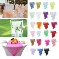 """Organza Table Runners 23"""" x 108"""" Wider Wedding Chair Cover Sashes Party Decor"""