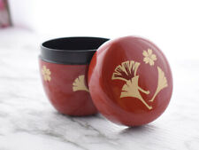 Vintage Japanese Red Lacquered Natsume, Tea Caddy