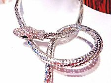 SILVER SNAKE CHAIN arm band bracelet cuff necklace choker belt body jewelry Z3