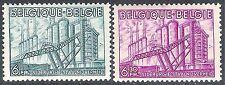 Belgio 1948 INDUSTRIA Blu 6 F Viola 6 F .30 C SG1227/1228 Nuovo di zecca