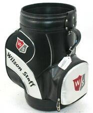 Used Wilson Staff Den Caddie Golf Bag Storage Holder Black/Silver/Red
