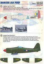 Print Scale Decals 1/48 HAWKER SEA FURY IN INTERNATIONAL SERVICE Part 2