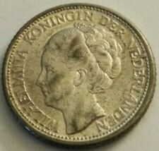 Silver 1944 Netherlands 25 Cents Silver Foreign Coin