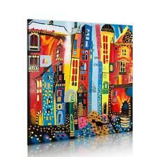 100% Handgemalt – Gemälde / Bilder Leinwand 1 Teilig Abstrakt 80x80 5059_MK