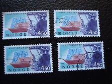 NORVEGE - timbre yvert et tellier n° 1085 x4 obl (A04) stamp norway (Z)