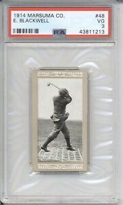 1914 Marsuma Co. E. BLACKWELL #48 PSA 3 VG Vintage Golf Tobacco Card