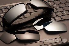 New Oakley Gascan replacement POLARIZED DARK BLACK & TITANIUM MIRROR 100% UV400