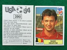 USA 94 1994 n 390 MARC DEGRYSE BELGIO BELGIQUE Figurina Sticker Panini NEW