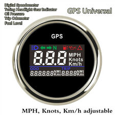 52mm Digital GPS Speedometer Turning Indicator Oil Pressure Fuel Level MPH KM/H
