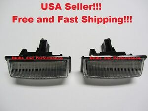 6000K White LED License Plate Light Lamps For Nissan Altima Sentra Murano Rogue