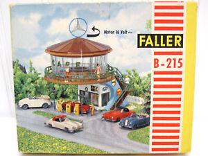 Vintage Faller HO ROTATING CAFE and GAS STATION B-215 +Box! Model Kit +Motor