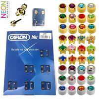 1 Pair - Caflon - Plain / Birthstones - Gold / Silver Ear Piercing Stud Earings
