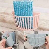 Kitchen Sink Faucet Sponge Soap Drain Rack Storage Holder Hanging Basket M4M1