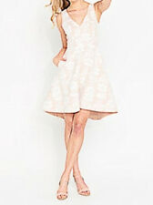 PORTMANS SIGNATURE Dakota Bonded Lace Dress New White over Nude Size 8 Tags