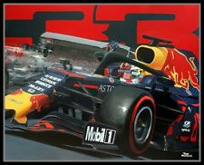 Painting 2019 German Grand Prix winner Max Verstappen (NED) Toon Nagtegaal