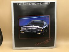 1984 84 Chevrolet Chevy Caprice Classic and Impala Brochure Book Flyer Ad