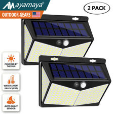 2x208 LED Solar Lights Motion Sensor Detector Outdoor Security Flood Garden Yard