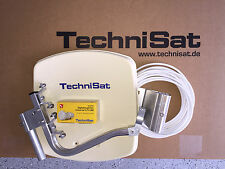 TechniSat Digidish33 mit V/H - LNB (single) Neu OVP beige mit HDTV-Receiver Neu