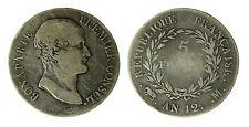 pcc1840_13) Monnaies Révolution Française Consulat Bonaparte 5 Francs l' AN 12 M
