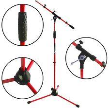 KEEPDRUM MS106 RD Rot Mikrofonständer Stativ mit Galgen