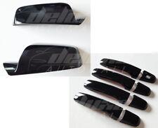 BLACK Clip-On Mirror + Door Handle Covers FOR 10-2017 Chevy Equinox GMC Terrain