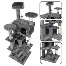 "53"" Sturdy Cat Tree Tower Activity Center Large Playing House Condo For Rest"
