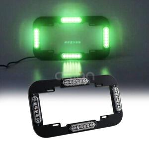 "13.6"" LED Warn Flash Emergency Traffic Advisor Strobe License plate Lights Green"