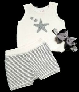 Hanna Andersson Baby Girl Set Size 50 0-3 Pure Organic Cotton