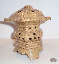 "HTF Marble Pattern 8"" Ceramic Hexagon Pagoda Tealight Table Top Candle Holder"