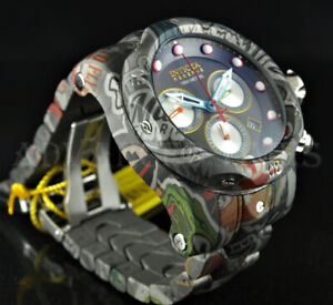 Invicta Reserve 52mm Venom Hydroplated Graffiti Swiss Movt Chronograph Watch NEW