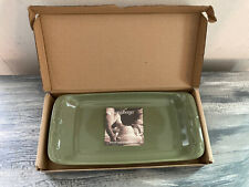 Longaberger Pottery Woven Traditions Appetizer Tray #3204960 Sage