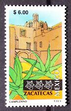 Mexico Zacatecas Perm Series $6 Cactus Maguey Architecture Church Desert MNH