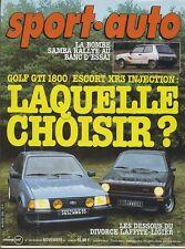 SPORT AUTO n°250 NOVEMBRE 1982 avec encart et poster GP DALLAS GOLF GTI XR3