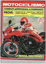 08 1983 - MOTOCICLISMO KAWASAKI GPZ - SUZUKI GR 650 SWM XN 350 MALAGUTI ENDURO