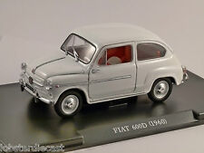 1960 FIAT 600D in White 1/24 scale model *Cracked case