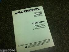 Jacobsen Kubota Diesel Engine Workshop Manual Parts 123V EC13V Commercial 123-V