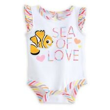 "DISNEY STORE FINDING NEMO CUDDLY BODYSUIT BABY 0/3 MOS ""SEA OF LOVE"" NWT"