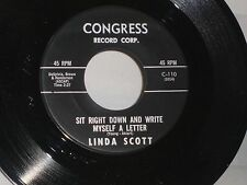 Linda Scott: Sit Right Down and Write Myself a Letter /Ain't That Fun [Unplayed]