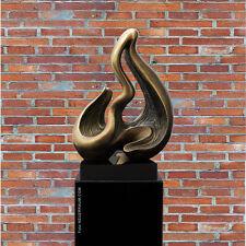 """Notre Neuf Sculpture Moderne """" Vague """" Ancien Cuivre Design.marmor Colonne De"""