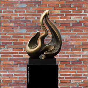 "Our New Modern Sculpture "" Wave "" IN Antique Copper Design. Marble Columns From"