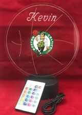 Boston Celtics NBA Light Up Night Light Lamp LED With Remote Personalized Free