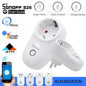 Sonoff S26 Smart WIFI Itead Steckdose App Fernbedienung Home Socket Zeitschaltuh