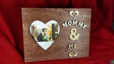New Mommy & Me Wood Picture Frame Personalized Gifts With Names