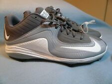 Nike Air Mvp Pro 2 Ii Metal Size 12 Brand New Baseball Cleats grey white No Box