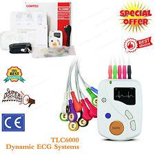 CONTEC Portable ECG EKG Holter 48 Hours Recorder TLC6000 New Software ,Promotion