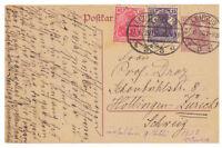 Deutsches Reich, Ganzsache P 116 + ZuF Leipzig nach Zürich, Schweiz 27.06.1920