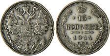 RUSSIE  ,  NICOLAS  II  ,  15  KOPEKS  ARGENT  1914  ,  SAINT  PETERSBURG