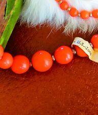 glass graduated bead strand crafts tr made in Germany U.S. zone beautiful Orange
